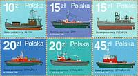 Польша 1988 - пожарные суда - MNH XF