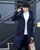 Мужское пальто-пуховик с капюшоном. Модель 6266, фото 4