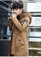 Мужское пальто-пуховик с капюшоном. Модель 6266, фото 2