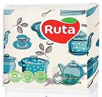 Салфетки Ruta Double Luxe 24 * 24 40шт в уп. Кухня 2-слойные