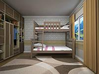 """Детская двуярусная деревянная кровать """"Комби 2"""""""