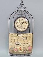 "Часы настенные ""Old Town"" с календарем 60x27см"