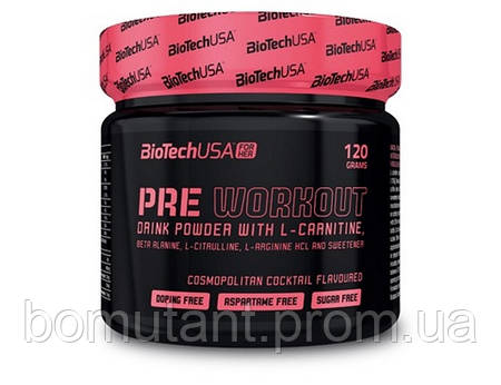 Pre Workout Drink Powder 120 гр mojito cocktail BioTech