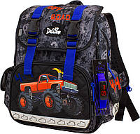 Ортопедический школьный рюкзак для мальчика 1-4 класс, Delune, серый с синим