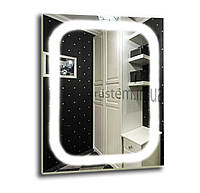 Зеркало с лэд подсветкой для ванной комнаты d-11 600х800 мм
