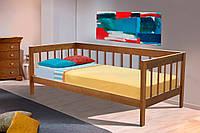 Кровать односпальная из дерева Ольга 0,9м ольха орех
