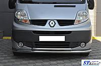 Защита переднего бампера (кенгурятник) Renault Trafic (2001-) /ус двойной