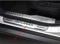 Накладки на пороги Mitsubishi Outlander 2017+, фото 1