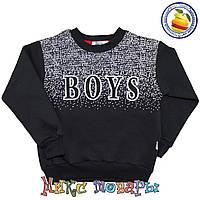 Тёплые батники чёрного цвета для мальчика Размеры: 6-7-8-9 лет (5593-5)