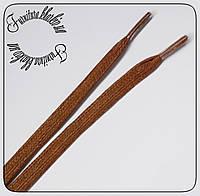 Шнурок плоская пропитка  1 м ширина 8 мм рыжий