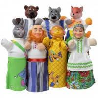 Кукольный театр Колобок (7 персонажей + книжка), ЧудиСам (В065)