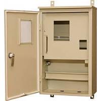 Щит учета распределительный металлический ЩУР-1-10А 1Ф гермет (две двери)