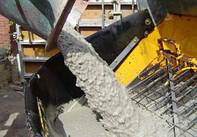 Подача бетона  В25 П4 F200 W6 бетононасосом