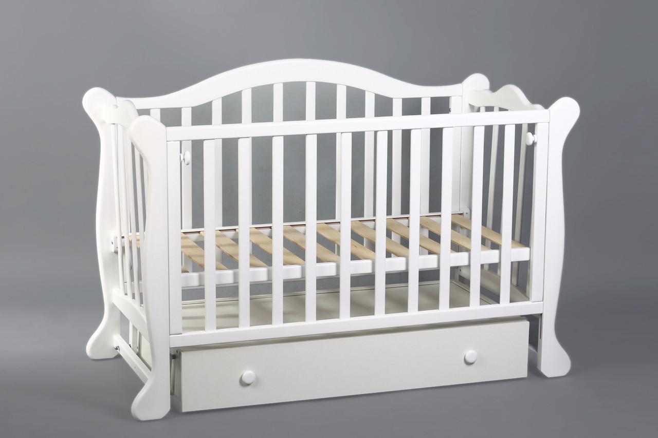 Детская кроватка с мятником «Амелия» (Белый), Ovvio