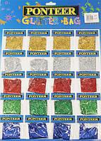Блестки-присыпка на картоне 8140 (20 пакетиков/5 цв.) мелкий глиттер-песок
