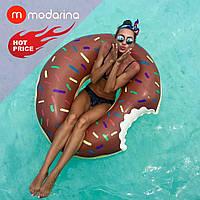 Modarina Надувной шоколадный круг Пончик 90 см, фото 1