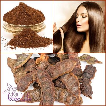 Порошок мыльных бобов Шикакай органический, 150 грамм - натуральный сухой шампунь для волос