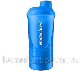 """Shaker Wave + 3 in 1 500 ml """"Schocking Blue"""" BioTech"""