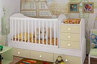 """Детская кроватка-трансформер """"Dream"""" (ваниль)"""