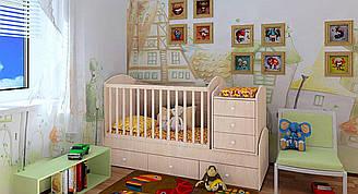 """Детская кроватка-трансформер """"Dream"""" (дуб молочный)"""