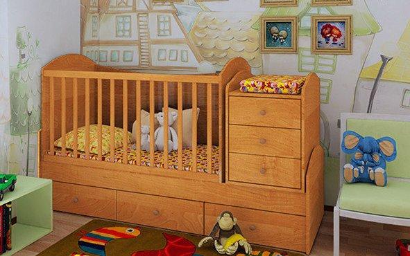 """Детская кроватка-трансформер """"Dream""""  (ольха) - Фенікс-ua.com в Полтаве"""