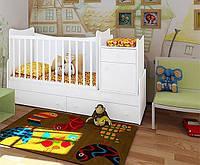 """Детская кроватка-трансформер """"Classic""""  (белый)"""