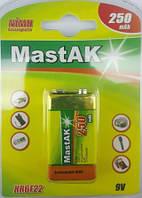 Аккумулятор Mastak HR6F22/9V 250 mA Ni-Mh