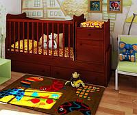 """Детская кроватка-трансформер """"Classic"""" (яблоня локарно)"""