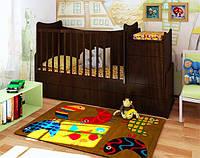 """Детская кроватка-трансформер """"Classic"""" (орех лесной)"""