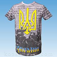 "3D футболка ""Україна"" (сіра)"