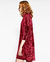 Новое бархатное платье свободного силуэта Zara