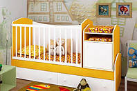 "Детская кроватка-трансформер ""Light"" (белый, желтый)"