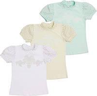Школьная блуза для девочки с коротким рукавом Американка 6-16 лет