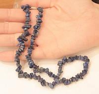Намисто (намиста) з лазуриту або ляпіса. Натуральний камінь, фото 1