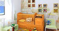 """Детская кроватка-трансформер """"Light"""" (ольха)"""