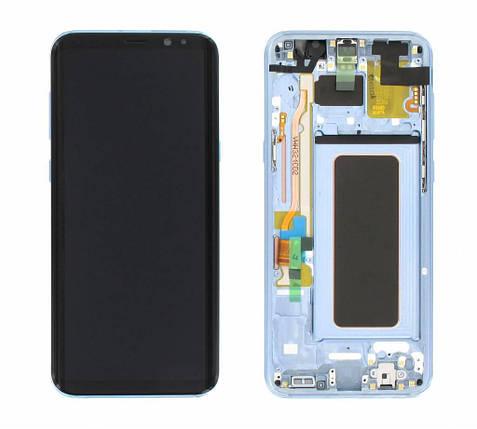 Дисплей с сенсором  Samsung G955 Galaxy S8 plus Голубой/Blue, GH97-20470D , фото 2