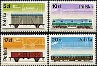 Польша 1985 - локомотив - вагоны - MNH XF