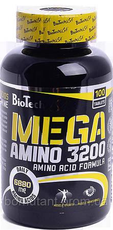 Mega Amino 3200 100 табs BioTech