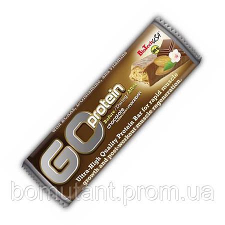 Go Protein Bar 80 гр шоколадный марципан BioTech