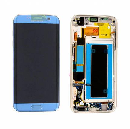 Дисплей с сенсором Samsung G935 Galaxy S7 Edge Голубой/Blue, GH97-18533G , фото 2