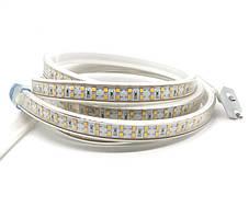 LED лента 220В SMD 2835, 180шт/м, 10W/m, IP68