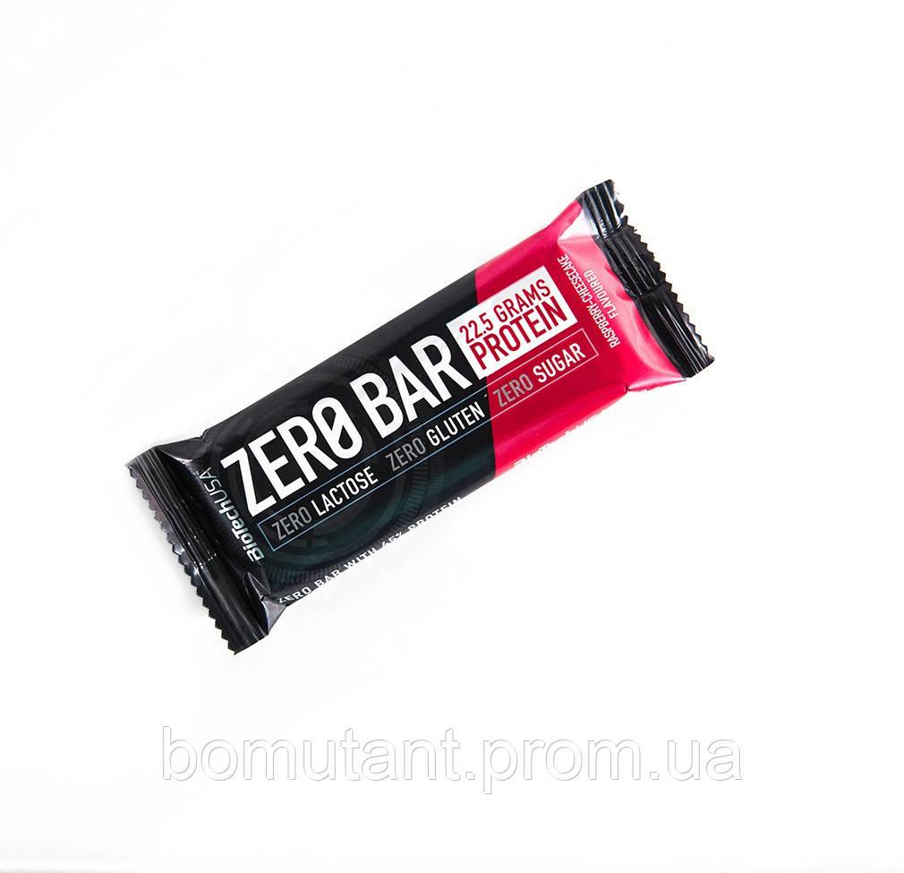 Zero Bar 50 гр малиновый чизкейк BioTech