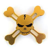 Спиннер золотой череп