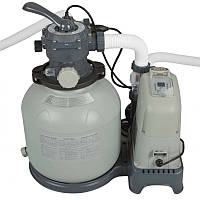 Хлоргенератор с песочным фильтрующим насосом Intex (11г/час,10000 л/час, 45 кг) (28680)