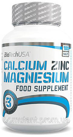 Calcium Zinc Magnesium 100 таб BioTech