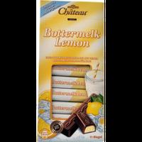 Шоколад молочный порционный Chateau Bottermelk Lemon- с лимонной кремовой начинкой