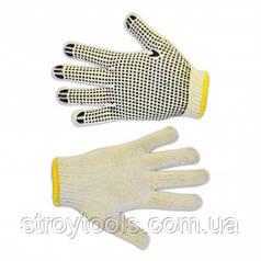 Рукавички текстильні з вкрапленнями,сірі, L,Technics,16-001,Київ. Продається упаковками по 12шт.