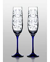 Бокалы для шампанского Viola Lido cobalt 2 шт
