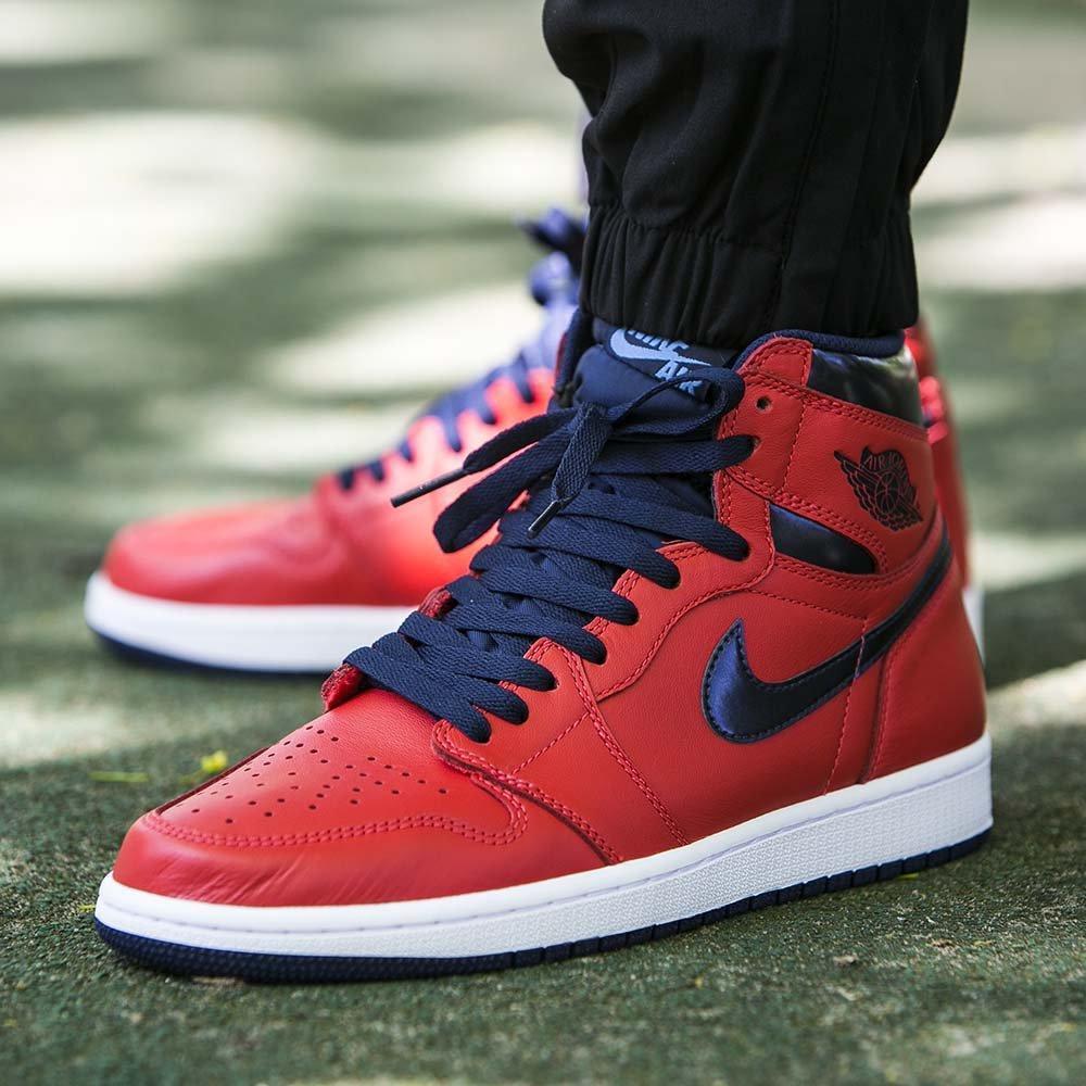 save off b7d8f a4555 Оригинальные мужские кроссовки для баскетбола Air Jordan 1 Retro High OG
