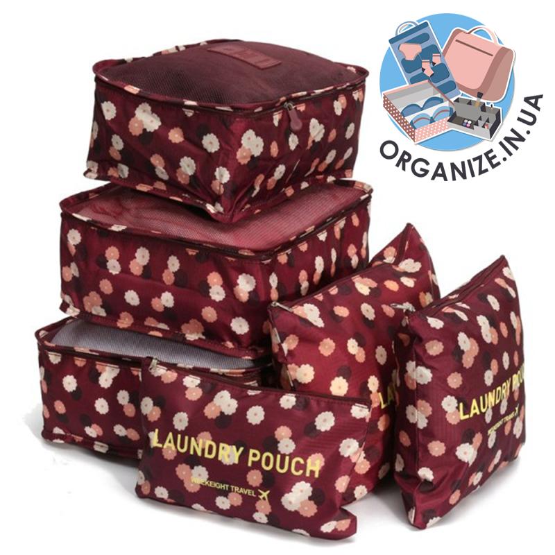 Комплект сумочек в чемодан Monopoly Travel (Daisy Purple) реплика